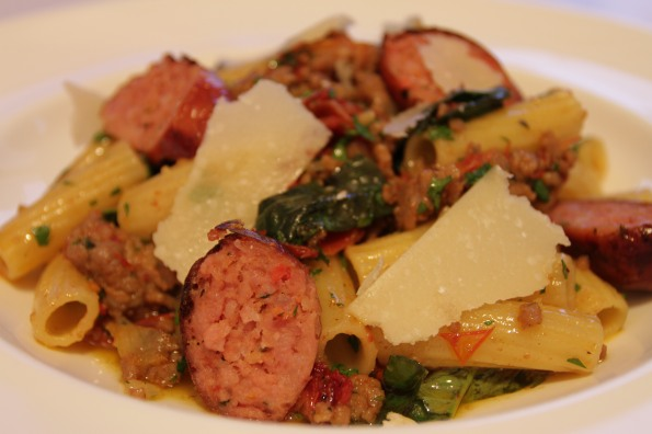 elicoidali with sundried tomato sausage