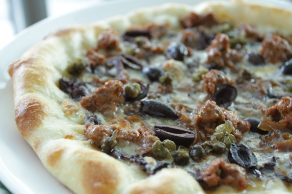 pizza lamb tapenade